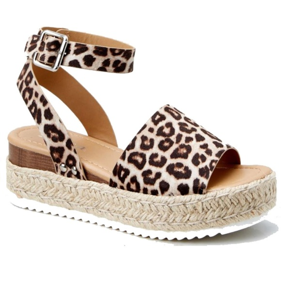 11f0ff8eaee7 New Topic Leopard Platform Espadrille Sandals. Boutique. Soda